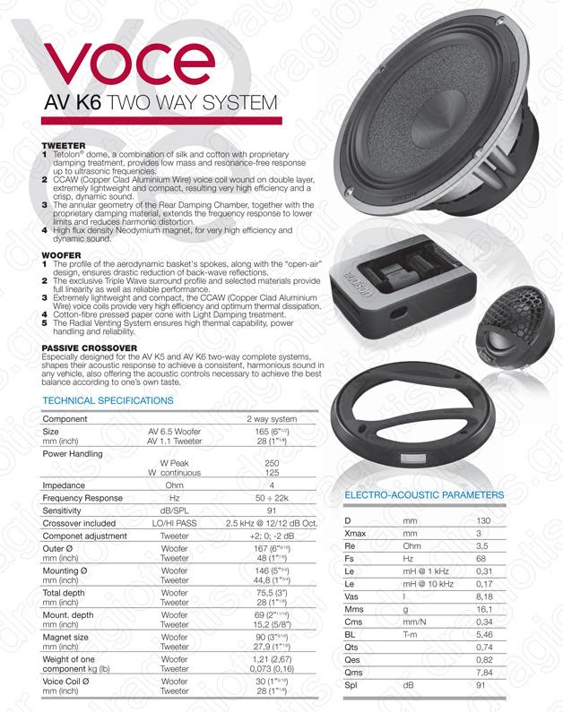 Audison Voce AV-K6