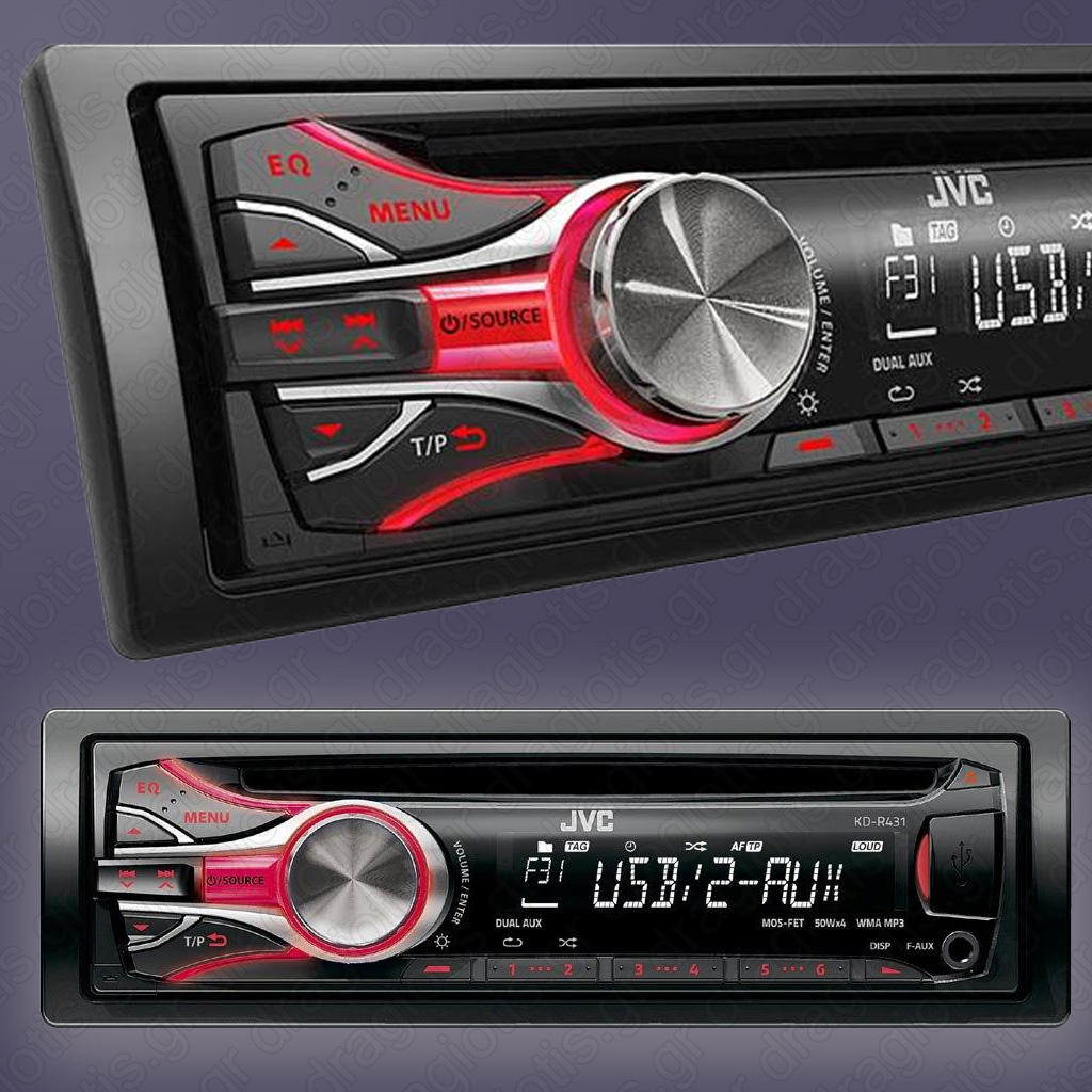 radio samochodowe jvc kd r431 aux usb 4 x 50w gwar. Black Bedroom Furniture Sets. Home Design Ideas